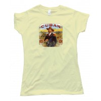 Womens Cuban Cigar Smoker - Tee Shirt