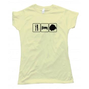 Womens Eat Sleep And Chicago Blackhawks Hockey - Tee Shirt