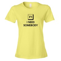 Womens F1 Help! I Need Somebody - Tee Shirt