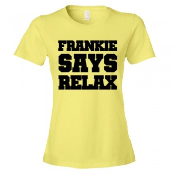 Womens Frankie Says Relax Big Text - Tee Shirt