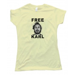 Womens Free Karl Workaholics - Tee Shirt