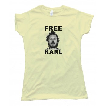 Womens Free Karl Workaholics - Tee Shirt
