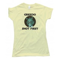 Womens Greedo Shot First - Star Wars - Tee Shirt