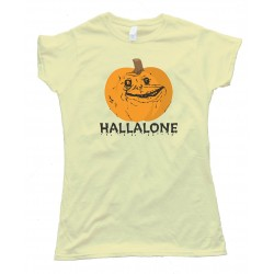 Womens Hallalone Forever Alone Halloween - Tee Shirt