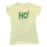Womens Ho3 Ho Ho Ho Christmas Santa Claus - Tee Shirt