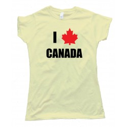 Womens I Love Canada Maple Leaf - Tee Shirt