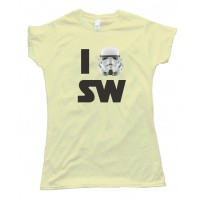 Womens I Love Star Wars Tee Shirt