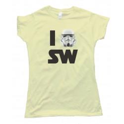 Womens I Love Star Wars Tee Shirt