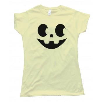 Womens Jack O Lantern Halloween Pumpkin Face - Tee Shirt