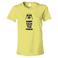 Womens Keep Calm And Use The Force Darth Vader - Tee Shirt