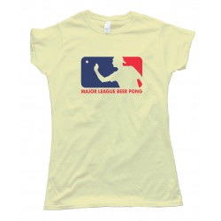 Womens Major League Beer Pong - Tee Shirt