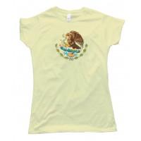 Womens Mexico Flag Center - Tee Shirt