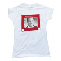 Womens Mitt Romney Etch A Sketch Tee Shirt