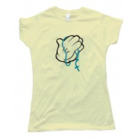 Womens Praying Hands Mickey Mouse Style - Tee Shirt