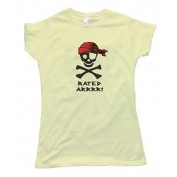 Womens Rated Arrrr! Pirate Tee Shirt