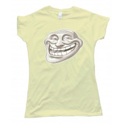 Womens Reality Trollface Coolface Tee Shirt
