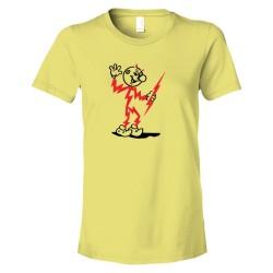 Womens Retro Electricty Guy Killowatt Man - Tee Shirt