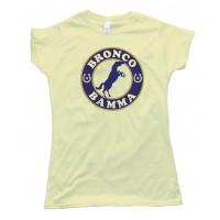 Womens Ropes & Horseshoes Bronco Bamma - Tee Shirt