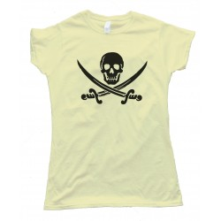Womens Skull & Crossbones Swords Pirate Tee Shirt
