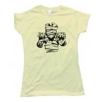 Womens Spooky Mummy Halloween - Tee Shirt
