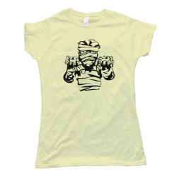 Womens Spooky Mummy Halloween - Tee Shirt