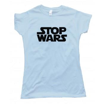 Womens Stop Wars Star Wars Peace - Tee Shirt