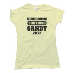 Womens Survivor - Hurricane Sandy 2012 - Tee Shirt