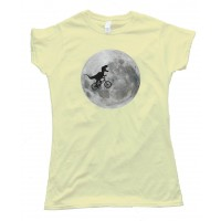 Womens Trex On A Bike In Front Of The Moon - Tee Shirt