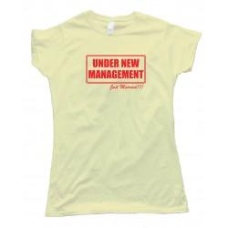 Womens Under New Management Just Married - Tee Shirt