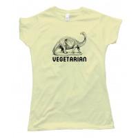 Womens Vegetarian Dinosaur - Tee Shirt
