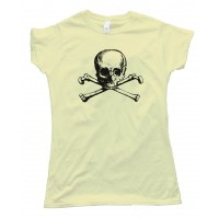 Womens Vintage Skull And Crossbones - Tee Shirt