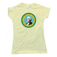 Womens Washington State Flag George Washington - Tee Shirt