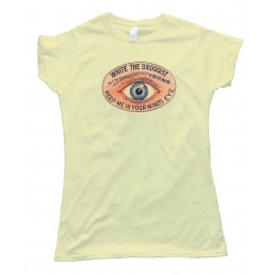 Womens White The Druggist Keep Me In Your Minds Eye - Tee Shirt