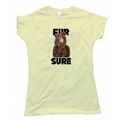Womens Workaholics Fur Sure - Tee Shirt
