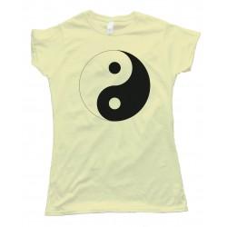Womens Yin-Yang - Retro Tee Shirt