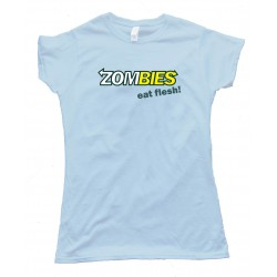 Womens Zombies Eat Flesh Subway Eat Fresh - Tee Shirt