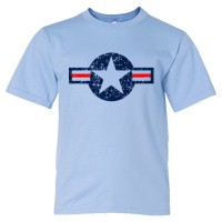 Youth Sized Classic American Military Star Air Force - Tee Shirt