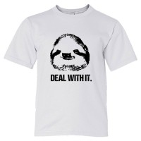 Youth Sized Deal With It Sloth - Tee Shirt