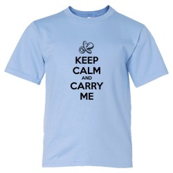 Youth Sized Keep Calm And Carry Me - Tee Shirt