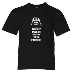 Youth Sized Keep Calm And Use The Force Darth Vader - Tee Shirt