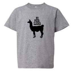 Youth Sized No Problem Prob Llama Animal - Tee Shirt