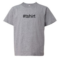 Youth Sized #Shirt Hashtag Twitter Tweet - Tee Shirt