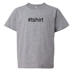 Youth Sized #Shirt Hashtag Twitter Tweet - Tee Shirt