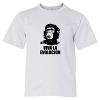Youth Sized Viva La Evolucion Che Guevara Chimp - Tee Shirt