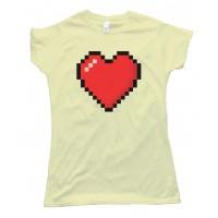 Womens 8 Bit Heart Shirt - Tee Shirt