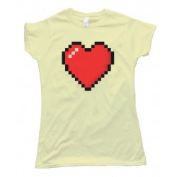Womens 8 Bit Heart Shirt - Tee Shirt