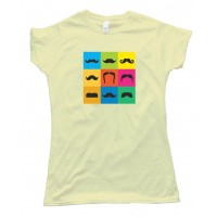 Womens 9 Mustache Styles On Colored Boxes - Movember - Tee Shirt