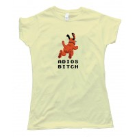 Womens Adios Bitch Nintendo Duck Hunt Dog - Tee Shirt