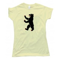 Womens Berliner Bear Berlin Flag - Tee Shirt