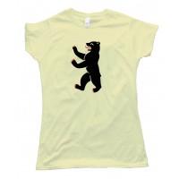 Womens Berliner Bear Berlin Flag - Tee Shirt